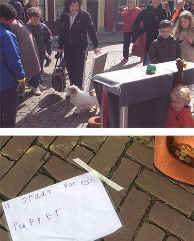 Lennart op  de vrijmarkt