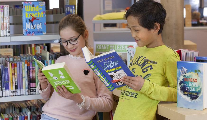 Lekker lezen in de schoolbieb