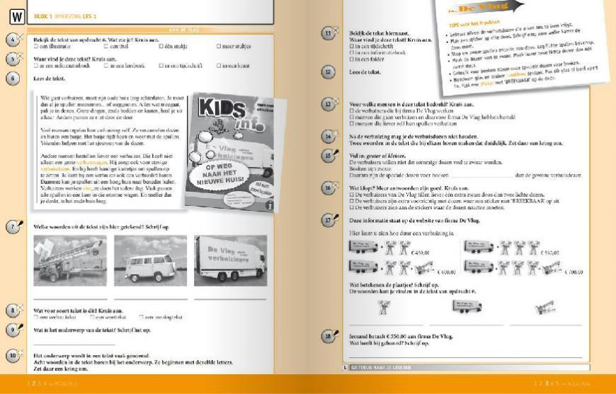 Werkboek Lezen in Beeld, leesmethode voor begrijpend lezen